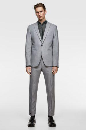 Zara Pantaloni da completo struttura panama