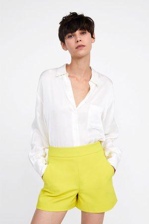 Zara Donna Pantaloncini - Bermuda cerniera metallica