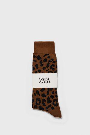 Zara Calzini jacquard animalier