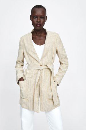 Zara Cappotto rustico a righe