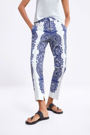 Zara Donna Chinos - Pantaloni chino stampati