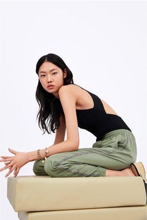 Zara Pantaloni jogger striscia laterale brillante