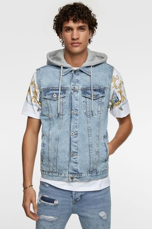 Zara Gilet denim bicolore