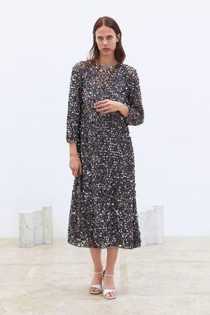 Zara Vestito in rete con paillettes limited edition