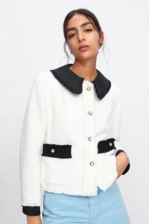 Zara Giacca combinata bottoni gioiello