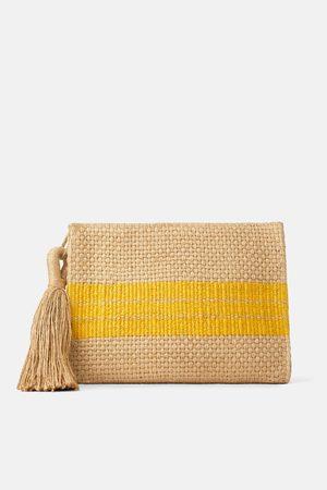 Zara Borsa clutch pochette in iuta naturale