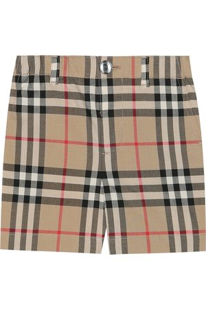 Burberry Shorts a quadri in cotone