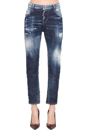 Dsquared2 Pantaloni Cool Girl In Denim Di Cotone