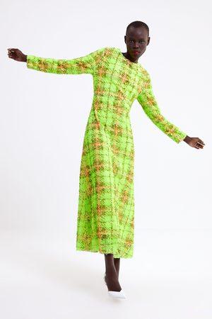 Zara Vestito a quadri con paillettes limited edition