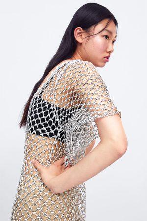 Zara Tunica in maglia con struttura brillante