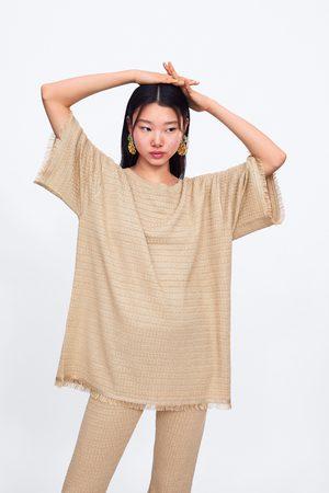 Zara Pullover in maglia frange