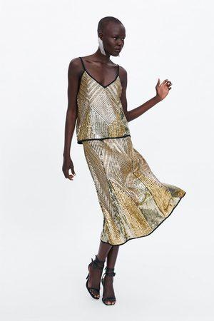 Zara Limited edition sequin skirt