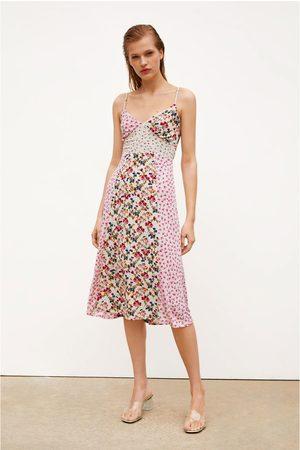 Zara Vestito con stampa patchwork