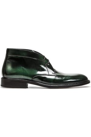 Design Italian Shoes Marco Polo - Polacchino Uomo Pelle Spazzolata Verde