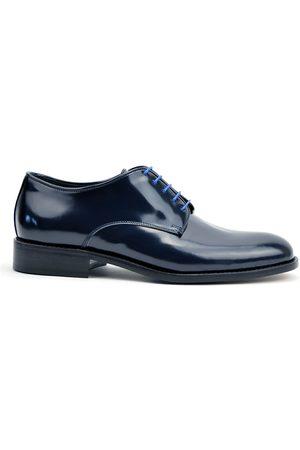 Design Italian Shoes Uomo Scarpe eleganti - Pertini - Derby blu lucido