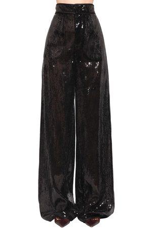 Dsquared2 Pantaloni Vita Alta Con Paillettes