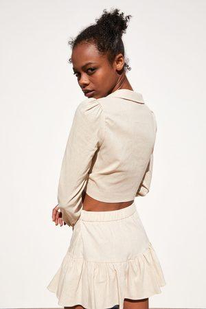 Zara Camicia cropped con fiocco