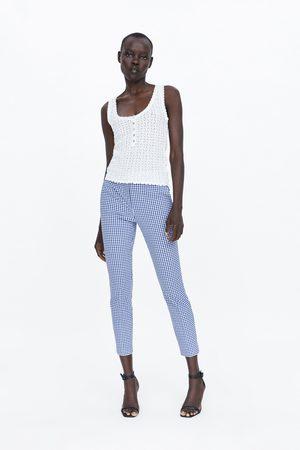 Zara Donna Joggers - Pantaloni jogger waist a quadretti