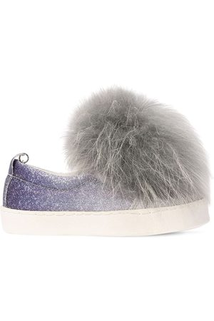 MONNALISA Sneakers Slip-on In Ecopelle Glitter