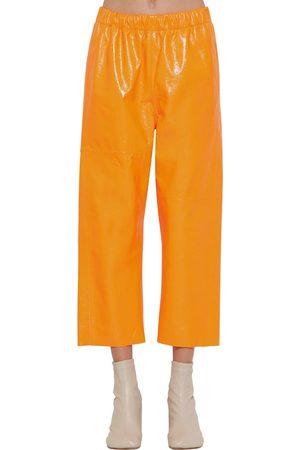 MM6 MAISON MARGIELA Pantaloni In Pelle Cracklé