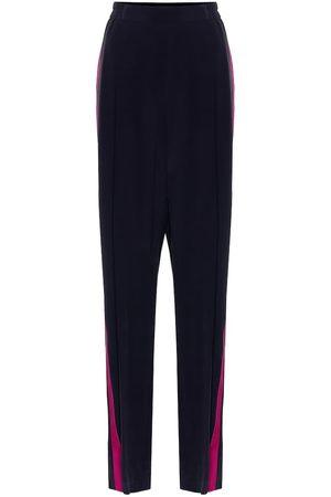 Stella McCartney Pantaloni in crêpe di seta
