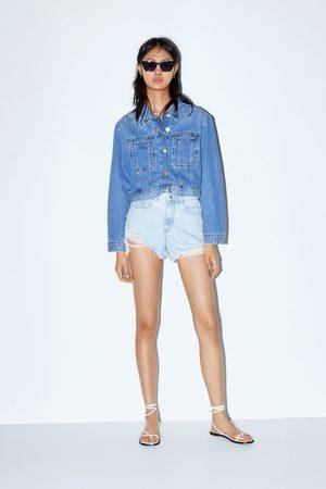 Zara Shorts a vita alta strappi