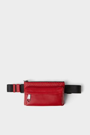 Zara Red microperforated belt bag
