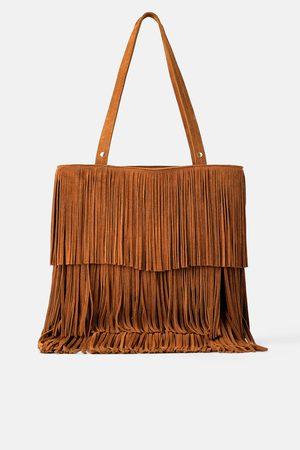 Zara Borsa shopper con frange