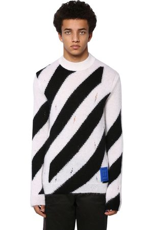 OFF-WHITE Maglia In Misto Mohair Destroyed