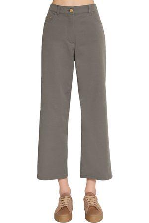 Max Mara Pantaloni In Tela Di Cotone