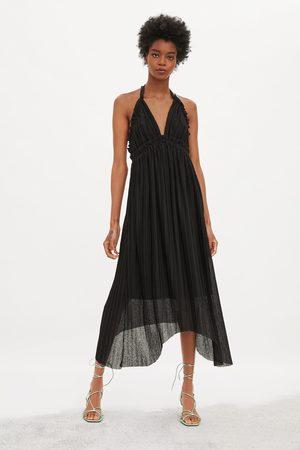 Zara Vestito plissettato