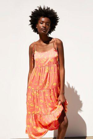 Zara Vestito midi stampato