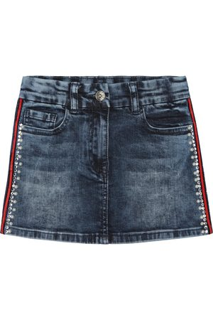 MONNALISA Gonna di jeans con cristalli