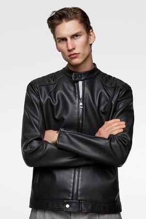Zara Uomo Giacche di pelle - Giubbotto biker effetto pelle