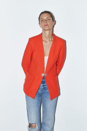Zara Blazer con bottoni gioiello