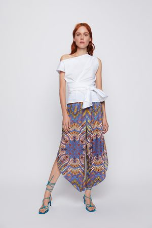Zara Pantaloni stampa foulard