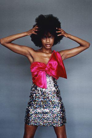 Zara Vestito mini con paillettes e fiocco