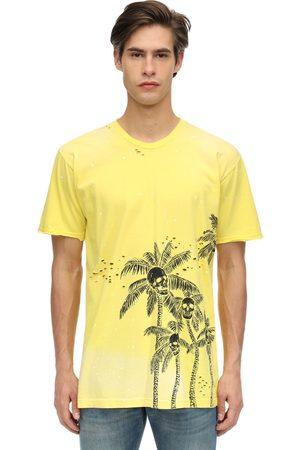 "DOMREBEL T-shirt ""palm Skull"" In Jersey Di Cotone"