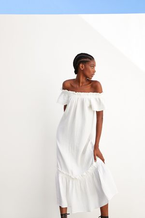 Zara Donna Vestiti - Vestito strutturato con volant