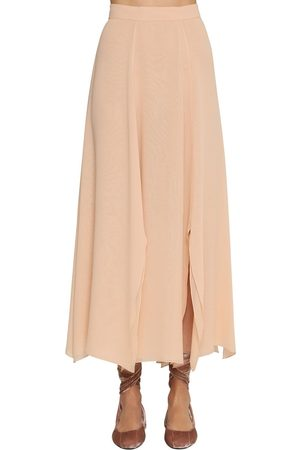 Max Mara Gonna Midi In Crepe Di Seta