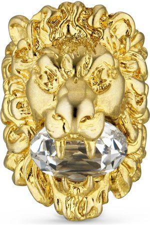 Gucci Donna Orologi - Anello testa di leone con cristallo