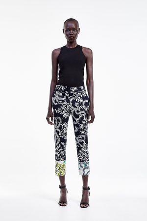 Zara Printed chino trousers