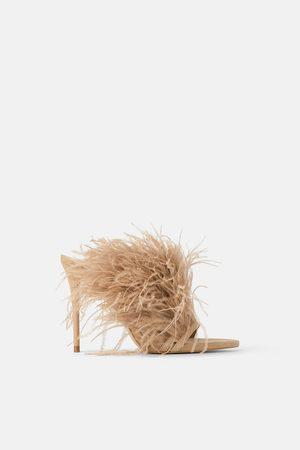 Zara Donna Sandali - Sandalo tacco pelle piume