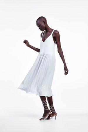 Zara Donna Vestiti - Vestito plissettato