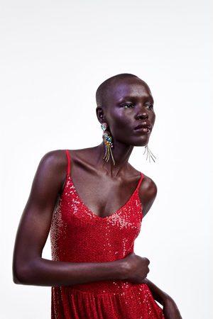 Zara Donna Vestiti lunghi - Abito lungo paillettes
