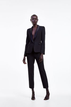 Zara Donna Blazer - Blazer stile smoking con revers abbinato
