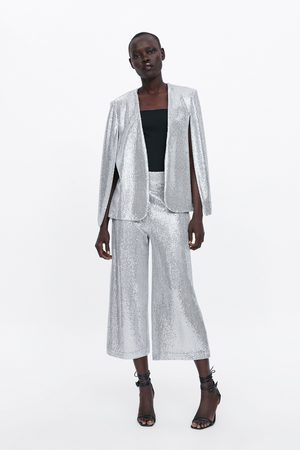 Zara Pantaloni culotte paillettes