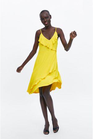 Zara Donna Vestiti - Vestito con spalline e volant