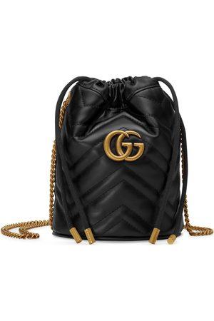 Gucci Donna Borse a mano - Mini borsa a secchiello GG Marmont