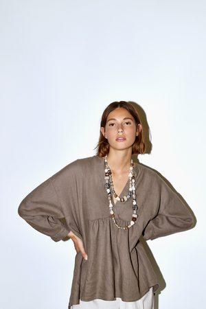 Zara Camicetta in lino ampia